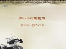 古典窗棂背景中国风PPT模板下载