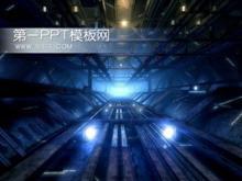 工厂背景PPT模板下载