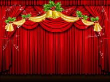 幕布背景动态圣诞节PPT背景模板