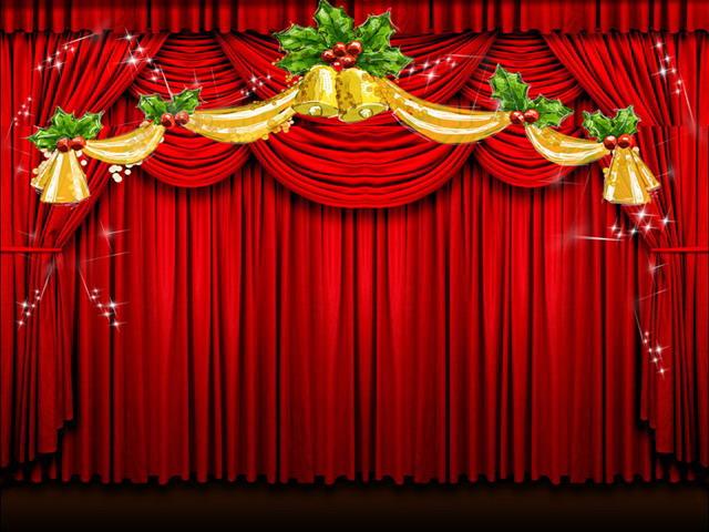 幕布背景动态圣诞节ppt背景模板图片