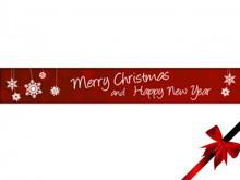 红色简洁的圣诞节PPT模板下载