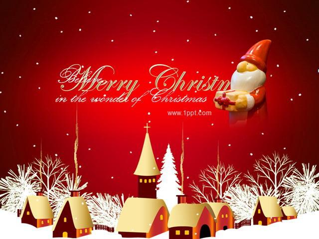 精美动画圣诞节ppt模板下载