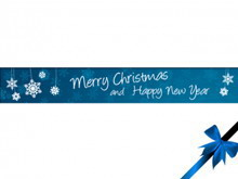 蓝色简洁的圣诞节PPT模板下载