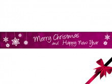 紫色简洁的圣诞节PPT模板下载