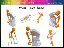 六张医疗护理的PPT小人素材图片
