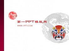 中国京剧脸谱艺术PPT模板下载