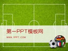 足球背景世界杯PPT模板下�d