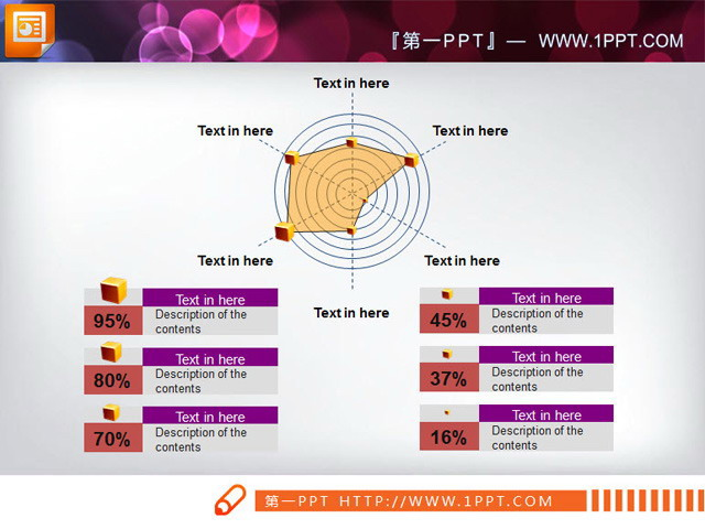 雷达折线图幻灯片素材下载,关键词:雷达,构成,结构,ppt素材下载,pptx