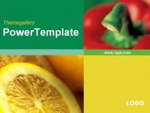 蔬菜水果背景幻灯片模板下载