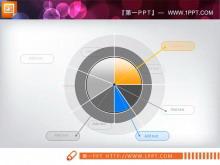淡雅的饼状图PPT素材下载