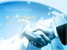 合作伙伴握手背景商务PPT中国嘻哈tt娱乐平台tt娱乐官网平台