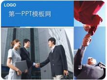 商务人士握手背景PPT中国嘻哈tt娱乐平台tt娱乐官网平台