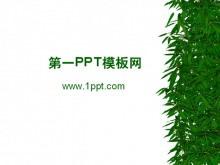 竹子竹叶PPT背景图片下载