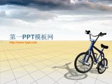 自行车背景的幻灯片模板下载