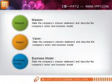 简洁的三个并列关系圆形PPT素材下载