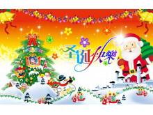 精美圣诞节动画PPT下载
