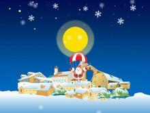 趣味圣诞老人PPT动画下载