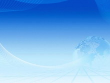 蓝色地球线条PowerPoint背景图片