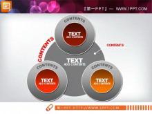 并列关联联动PowerPoint关系图下载