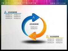 精美立体的环绕箭头PowerPoint素材下载