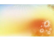 唯美的向日葵PPT背景图片