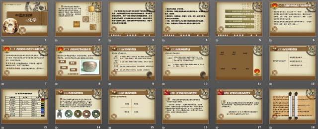 中国古钱币与化学PPT课件下载