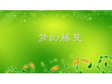 梦幻藤蔓二-植物PPT背景图片