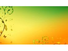 梦幻藤蔓三-植物PPT背景图片
