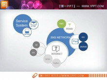 交叉关联关系PPT图表素材下载