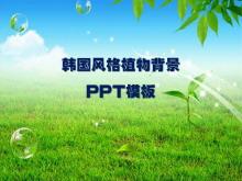 清新的韩国风格自然风景PPT模板下载