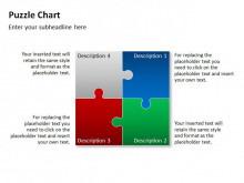 一组简洁而精致的PPT图表模板