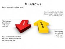 一组简洁精致的3dPPT箭头素材下载
