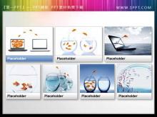 一组商务小鱼PPT小插图素材下载
