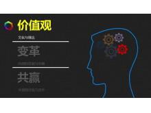 人脑思维背景的艺术PPT背景图片