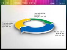 3d立体的循环结构PPT箭头素材下载