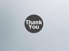 灰色背景的Thank You,PPT背景模板下载