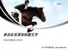 骑马,马术背景运动PPT模板下载
