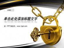 金锁钥匙背景的金融经济明升体育下载