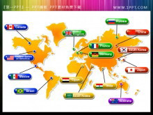 精美的带国家标识的世界地图彩票联盟信誉平台图片