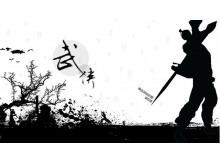黑白背景的中国古典武侠PPT模板下载