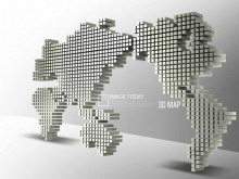 3d地图动态PowerPoint背景图片