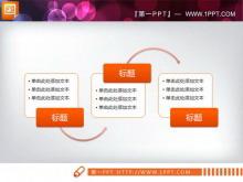 一组实用的smartart幻灯片流程图模板