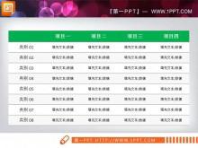 一组实用的PowerPoint数据表格中国嘻哈tt娱乐平台