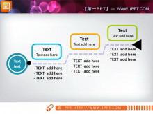 三节点的PowerPoint流程图模板下载