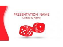 红色骰子背景娱乐PowerPoint模板下载