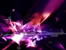 紫色炫光科技PPT背景图片