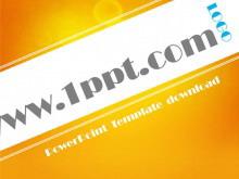 橙色简洁现代风格商务PowerPoint模板下载