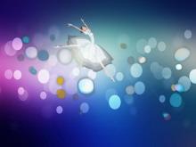好看的芭蕾舞女孩PowerPoint动画下载