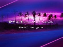 夏威夷自然风景PowerPoint模板下载