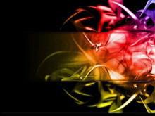 抽象火焰PowerPoint背景图片下载